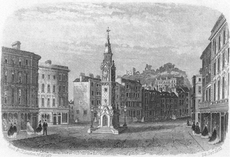 Associate Product SUSSEX. Albert Memorial, Hastings. Rock 1860 old antique vintage print picture