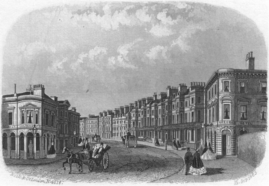 Associate Product SUSSEX. Havelock Rd, Hastings. Rock 1860 old antique vintage print picture
