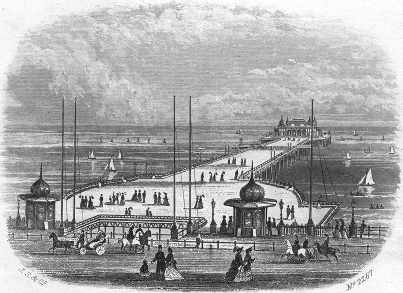 Associate Product SUSSEX. Hastings & St Leonards Pier 1860 old antique vintage print picture