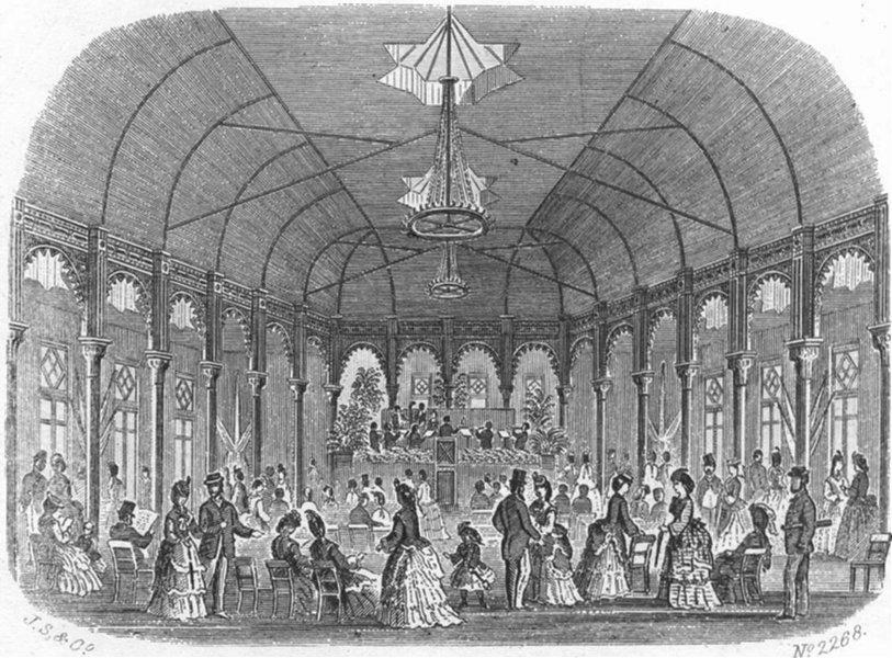 Associate Product SUSSEX. Pavilion, Hastings & St Leonards Pier 1860 old antique print picture