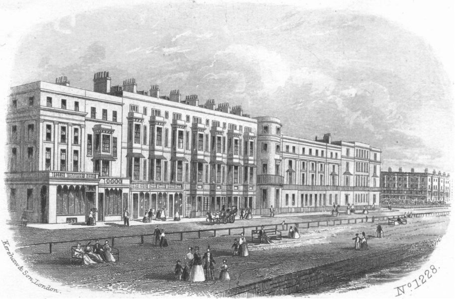 Associate Product SUSSEX. Parade, St Leonards-on-Sea 1860 old antique vintage print picture