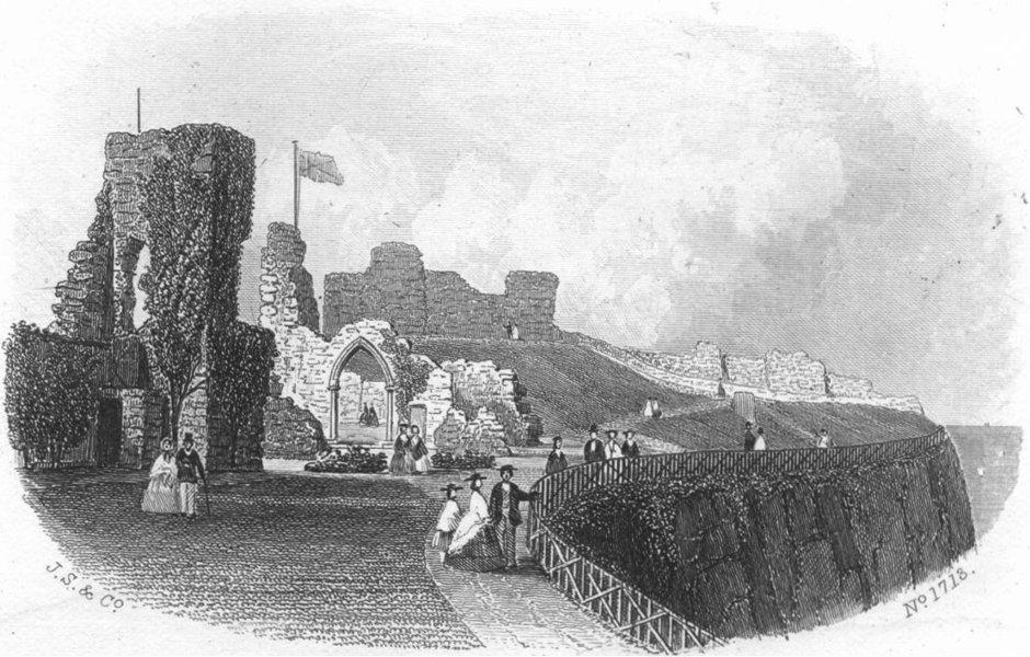 Associate Product SUSSEX. Hastings Castle 1860 old antique vintage print picture