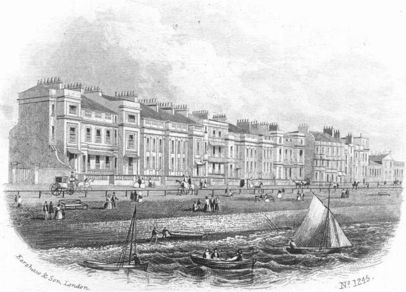 Associate Product SUSSEX. White Rock place, Hastings 1860 old antique vintage print picture