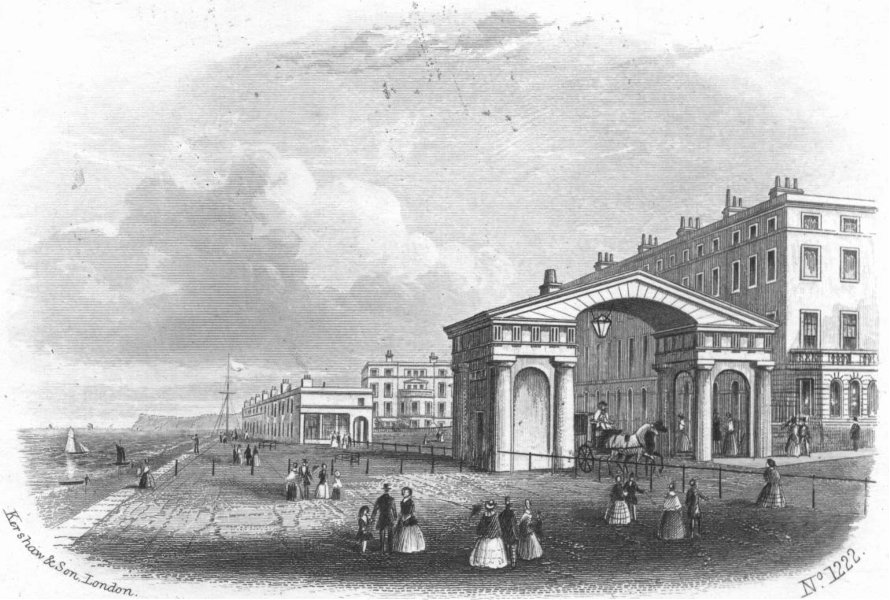 Associate Product SUSSEX. St Leonards-on-Sea(east end)Beachy Head 1860 old antique print picture