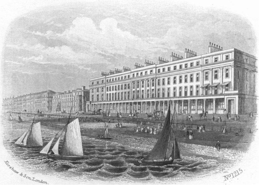 SUSSEX. Marina, St Leonards 1860 old antique vintage print picture