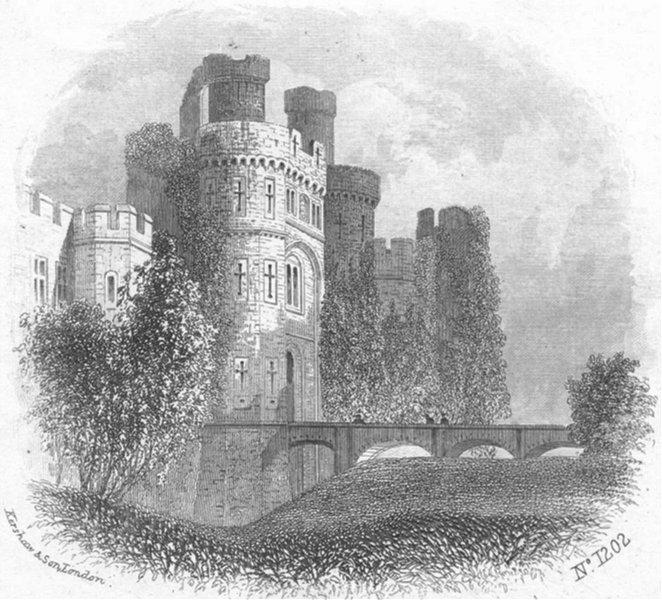 Associate Product SUSSEX. Hurstmonceaux Castle, Roger de Fiennes 1860 old antique print picture