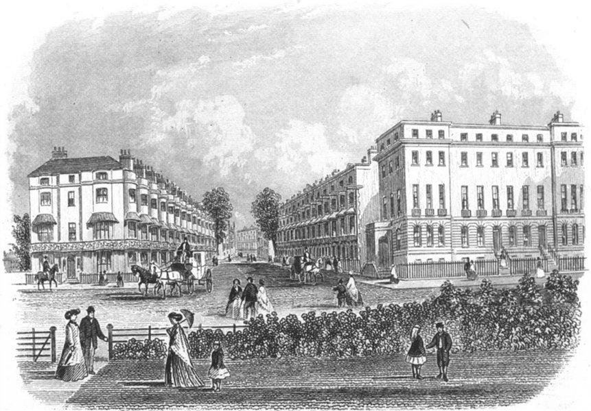 Associate Product SUSSEX. Cavendish place, Eastbourne. Rock 1860 old antique print picture