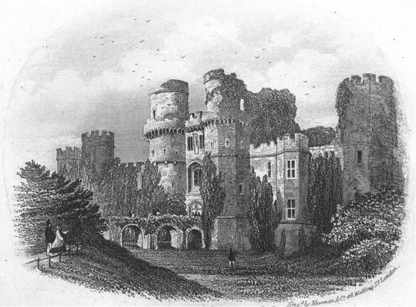 Associate Product SUSSEX. Hurstmonceux Castle. Eastbourne. Newman 1860 old antique print picture