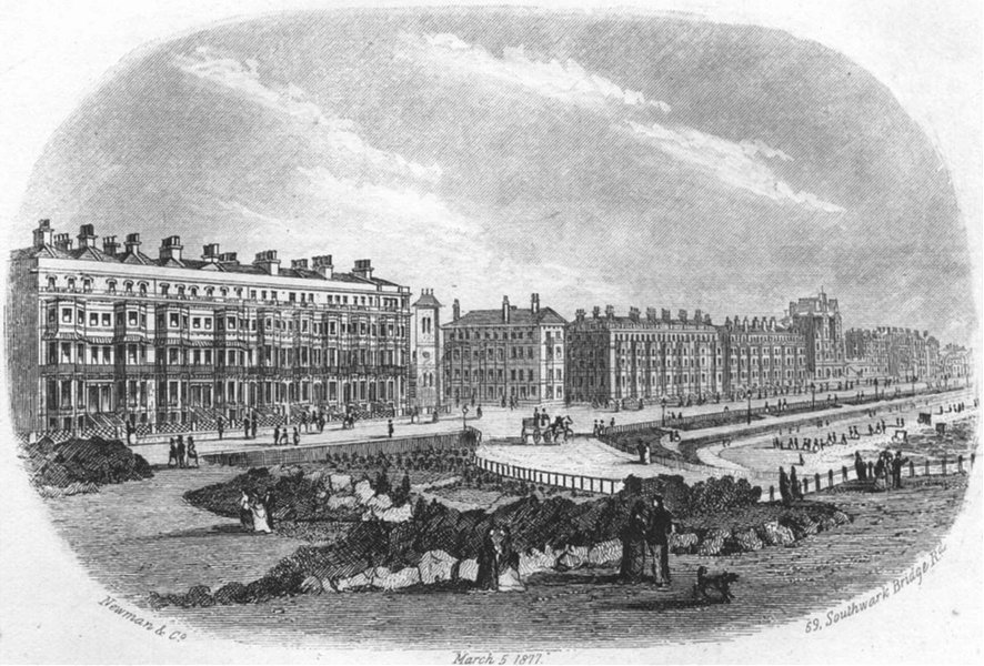 Associate Product SUSSEX. Mostyn Terrace, Eastbourne. Newman 1860 old antique print picture
