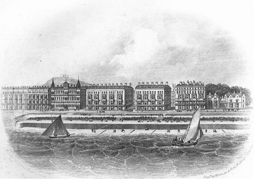 Associate Product SUSSEX. Parade west-Eastbourne. Newman 1860 old antique vintage print picture