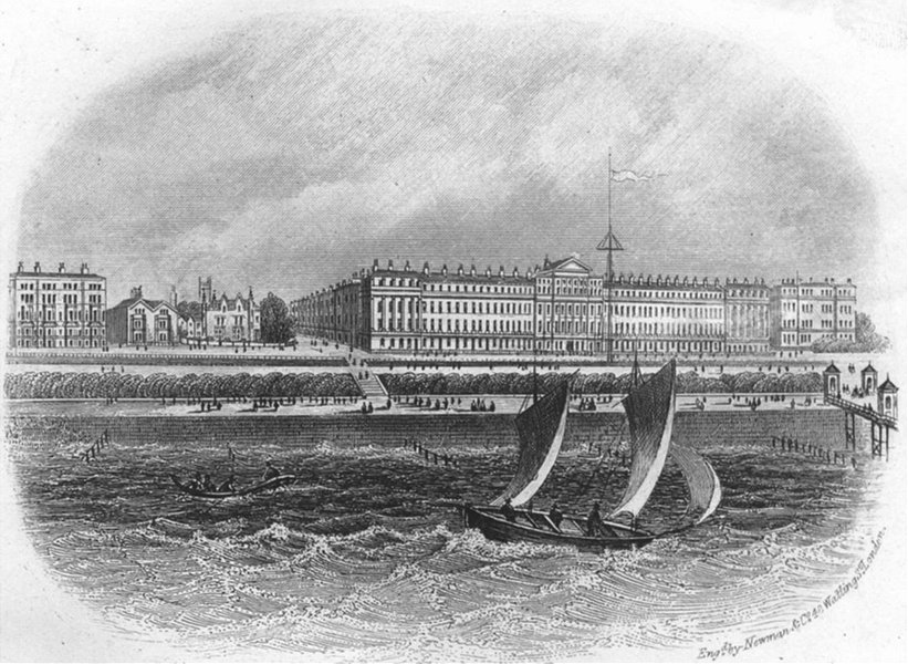 Associate Product SUSSEX. Parade east-Eastbourne. Newman 1860 old antique vintage print picture