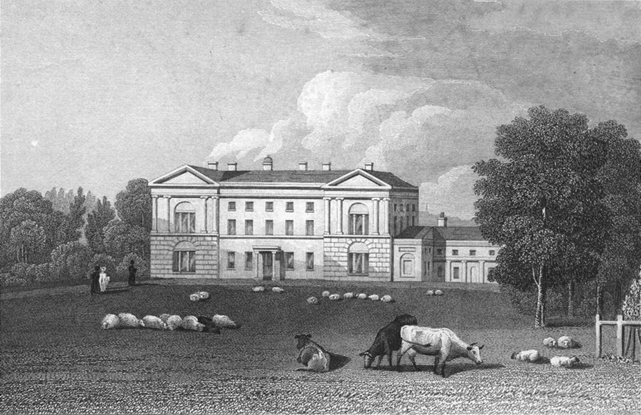 Associate Product WORCS. Moseley Hall, Worcestershire 1831 old antique vintage print picture