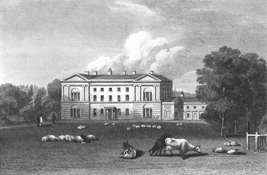 Associate Product WORCS. Moseley Hall, Worcestershire 1819 old antique vintage print picture