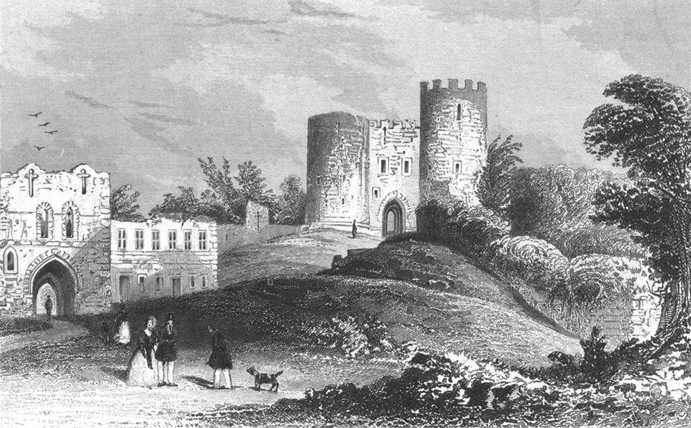 Associate Product STAFFS. Dudley Castle, Worcestershire. Worcs c1840 old antique print picture