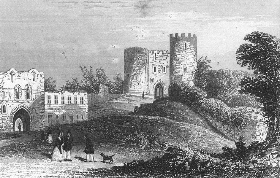 Associate Product STAFFS. Dudley Castle, Worcestershire. Worcs c1831 old antique print picture