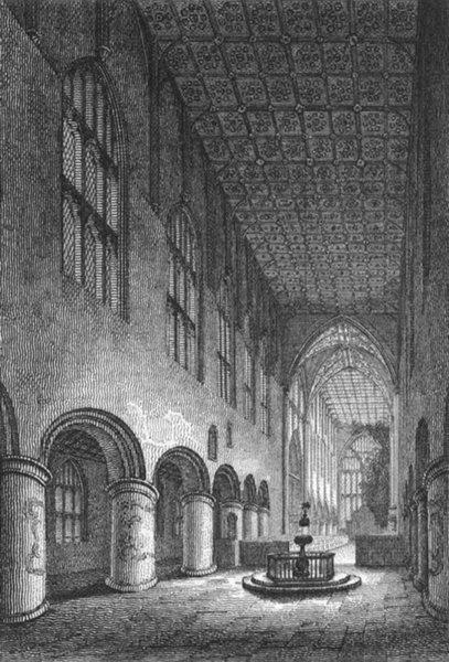 Associate Product WORCS. Malvern Abbey, Worcestershire 1807 old antique vintage print picture