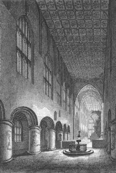 WORCS. Malvern Abbey, Worcestershire 1807 old antique vintage print picture