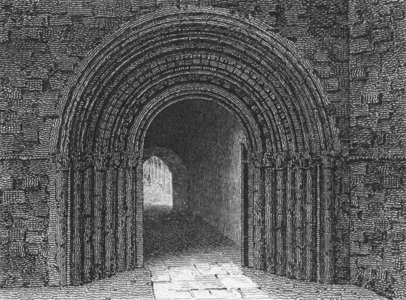 Associate Product WORCESTER. South entry to cloisters, Cathedral c1807 old antique print picture