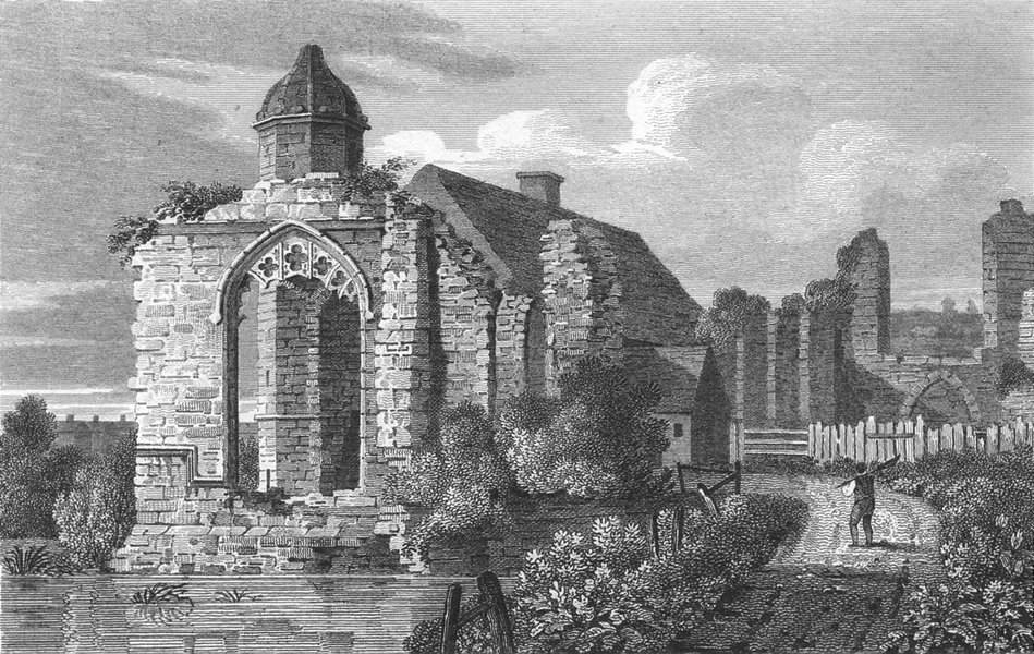 Associate Product DUDLEY. Remains Priory Church, Worcestershire 1812 old antique print picture