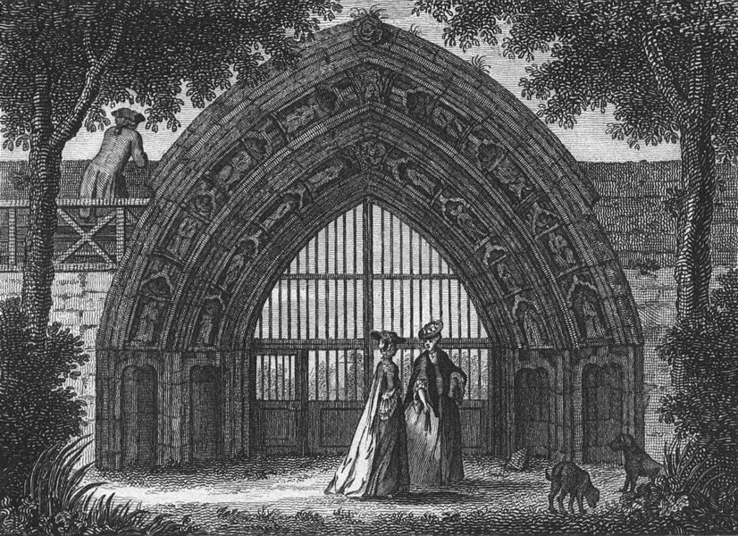 Associate Product WORCS. Evesham Abbey, Worcestershire 1775 old antique vintage print picture