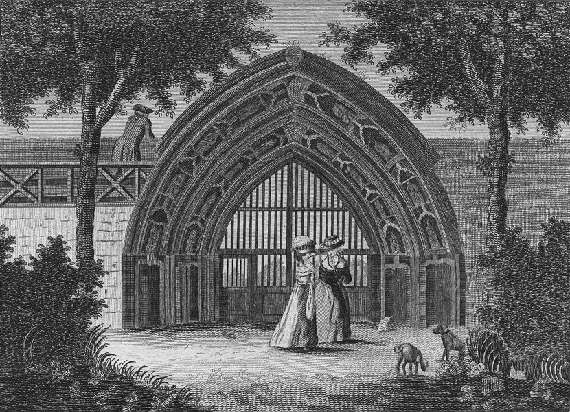 Associate Product WORCS. Evesham Abbey, in Worcestershire c1784 old antique print picture