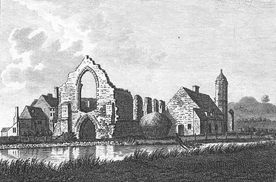 WORCS. Dudley Priory, Worcestershire 1776 old antique vintage print picture