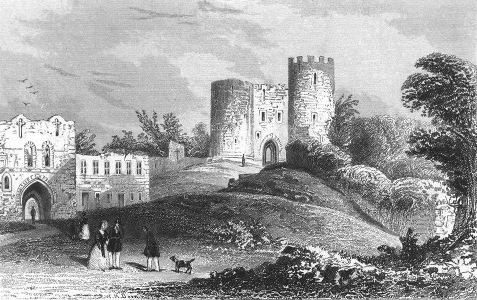 STAFFS. Dudley Castle, Worcestershire. Worcs c1840 old antique print picture