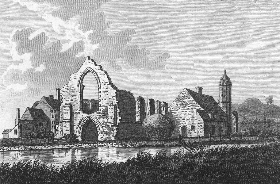 Associate Product WORCS. Dudley Priory, Worcestershire 1776 old antique vintage print picture