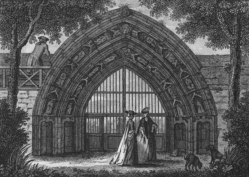 WORCS. Evesham Abbey 1775 old antique vintage print picture
