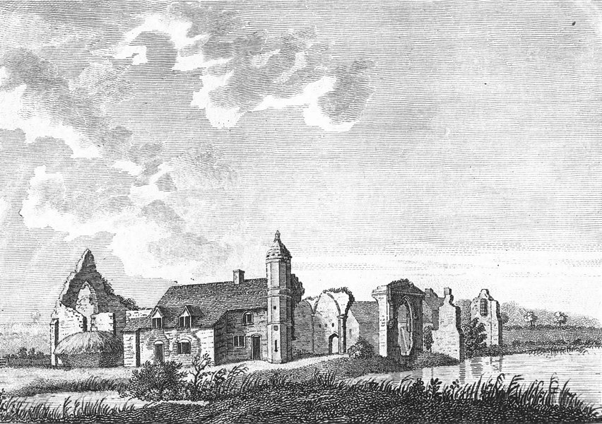 Associate Product WORCS. Dudley Priory 1776 old antique vintage print picture