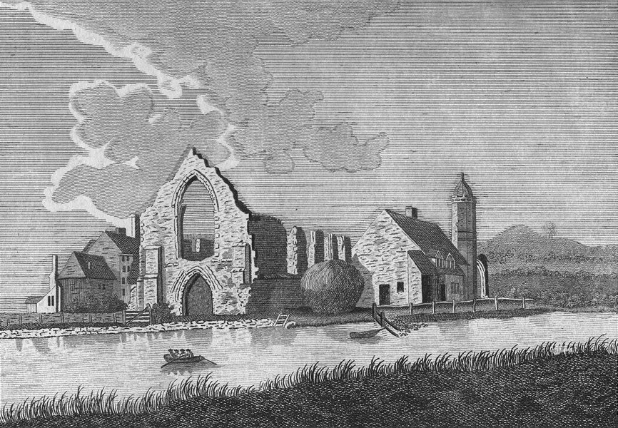 Associate Product WORCS. Dudley Priory, in Worcestershire c1784 old antique print picture
