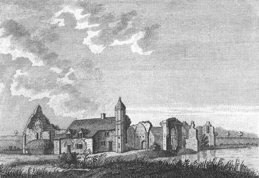 Associate Product WORCS. Dudley Priory, Worcestershire 1774 old antique vintage print picture
