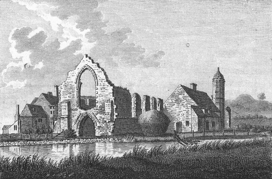 Associate Product WORCS. Dudley Priory, Worcestershire 1775 old antique vintage print picture