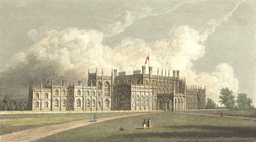 Associate Product CHESHIRE. Eaton Hall. Westall-Finden 1830 old antique vintage print picture