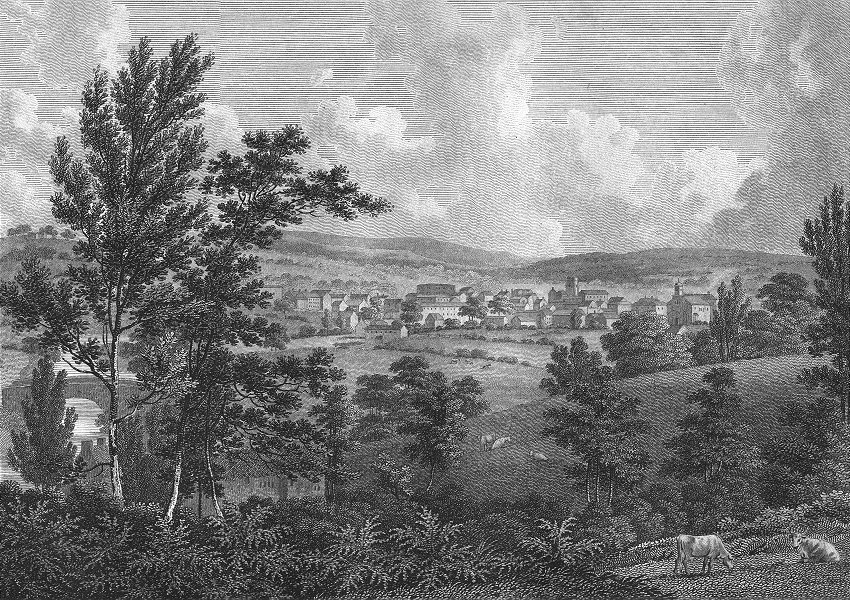Associate Product LANCS. Stockport. Cheshire. Aikin 1795 old antique vintage print picture
