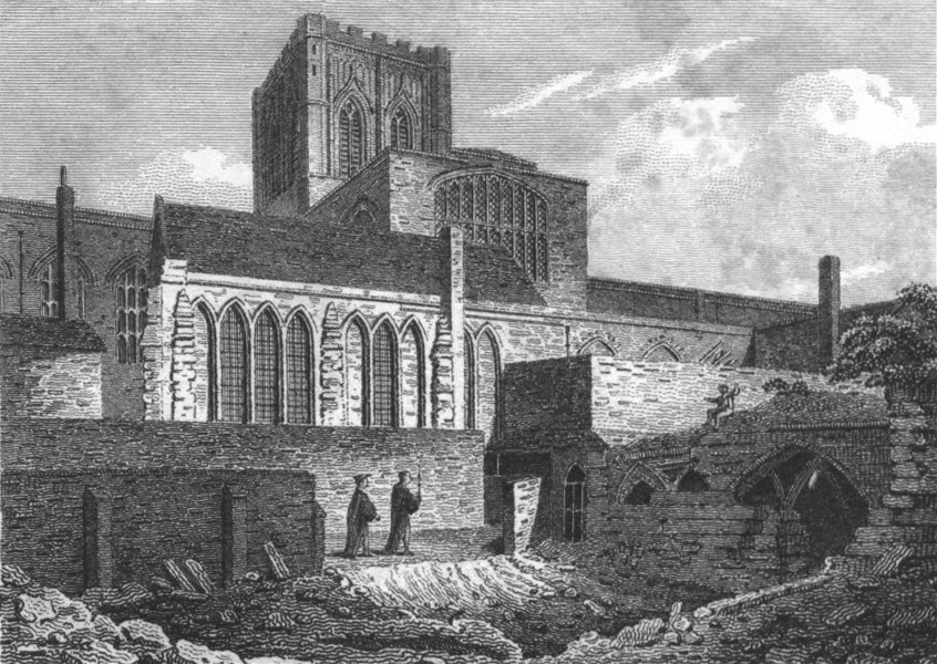 Associate Product CHESHIRE. Chester Cathedral 1812 old antique vintage print picture