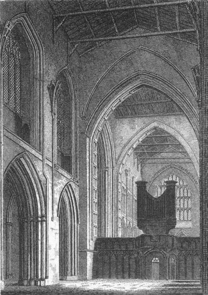 CHESHIRE. Chester Cathedral 1812 old antique vintage print picture