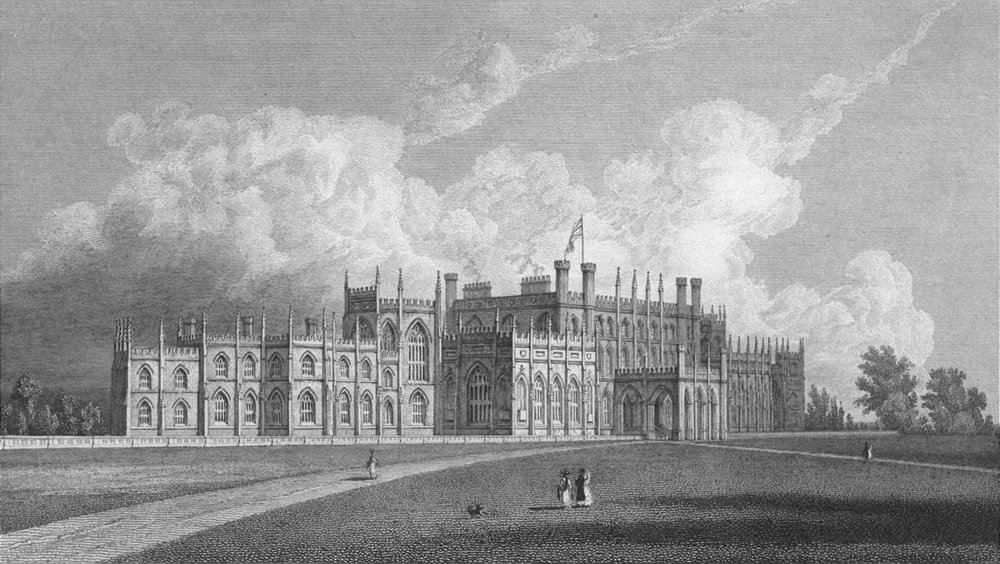 Associate Product CHESHIRE. Eaton Hall. Westall. Chester-Finden 1830 old antique print picture