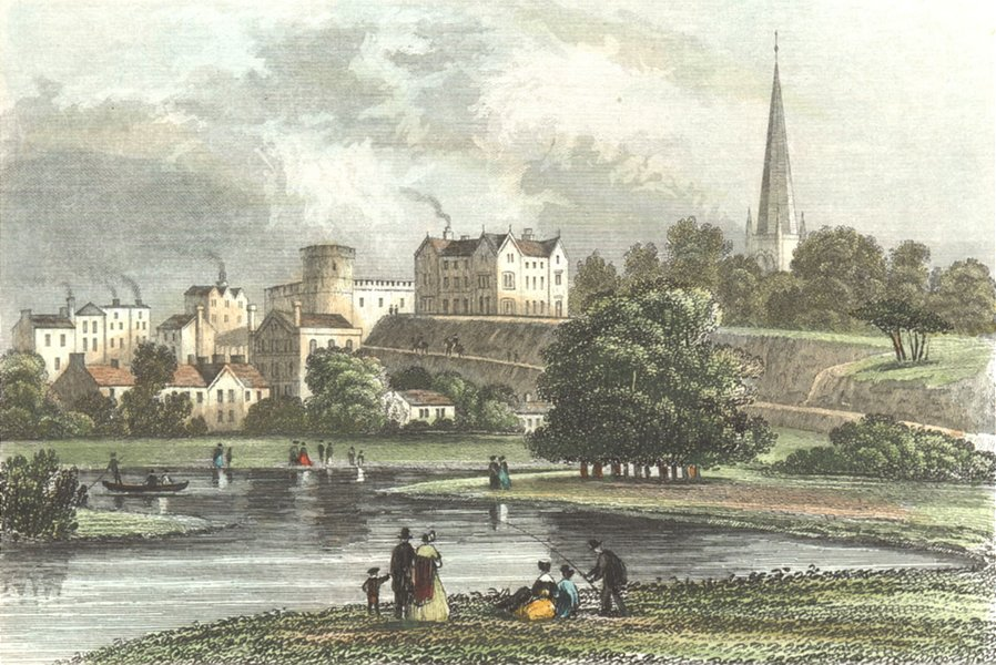 HEREFORD. Ross, Herefordshire. DUGDALE 1835 old antique vintage print picture
