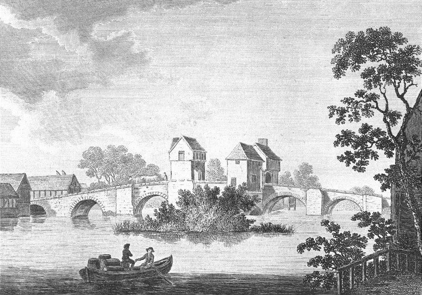 Associate Product BEDS. Bedford bridge. in boat Grose 1783 old antique vintage print picture