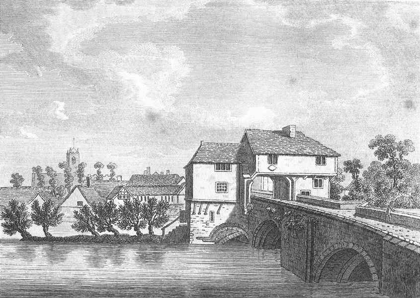 Associate Product BEDS. Bedford bridge. Grose. 18C 1795 old antique vintage print picture