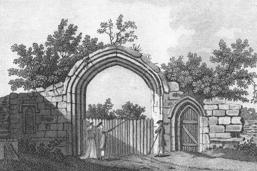 Associate Product DUNSTABLE. Gate of Priory, Bedfordshire. Grose. 18C 1795 old antique print
