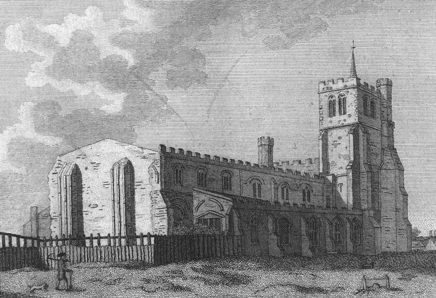 Associate Product BEDS. Dunstable Priory, Bedfordshire. Grose 1783 old antique print picture
