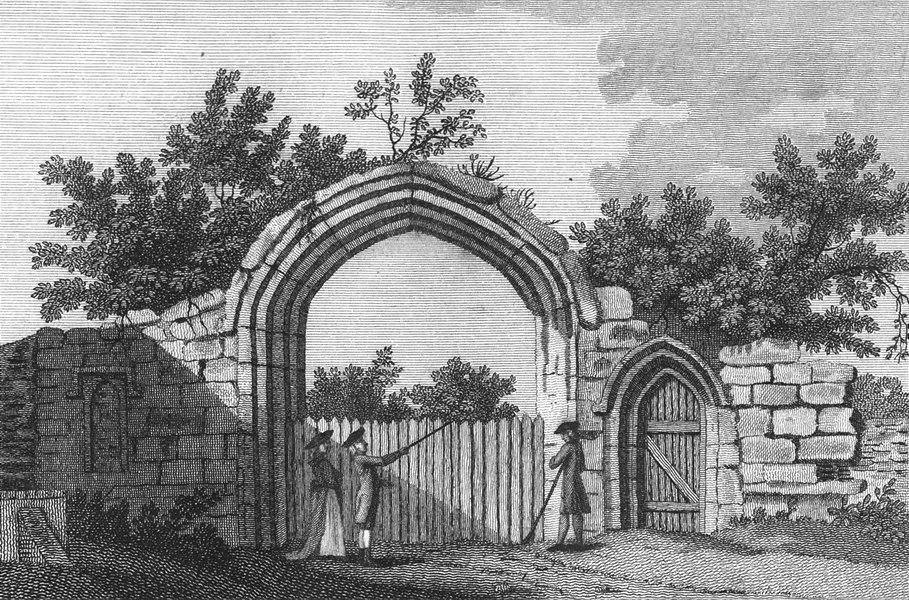 Associate Product BEDS. Gate of Dunstable Priory, Bedfordshire. Grose 1783 old antique print