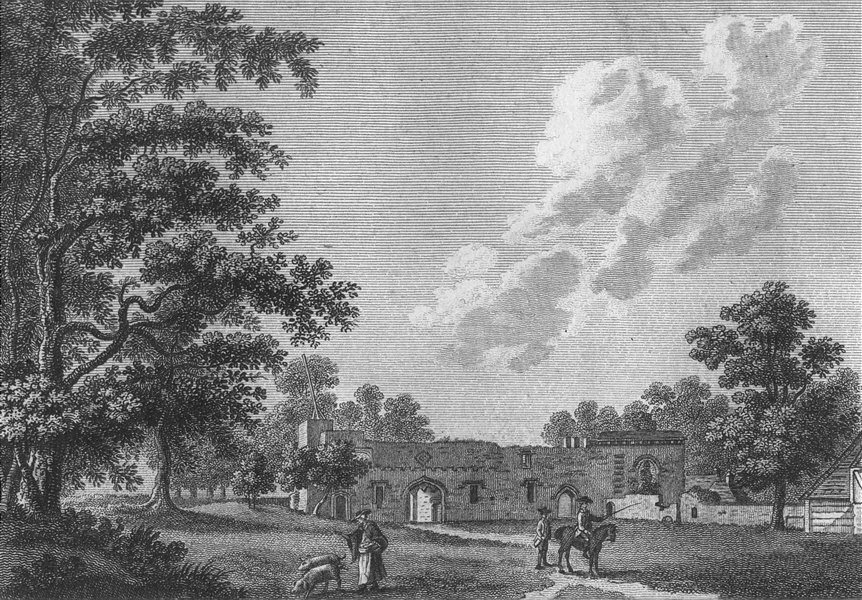 Associate Product BEDS. Tower, Luton, Bedfordshire. Grose 1783 old antique vintage print picture