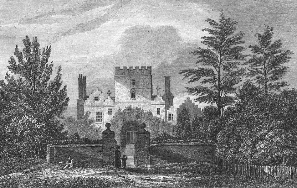 Associate Product STAFFS. Stowerton Castle, Madam Grazebrook. West 1830 old antique print
