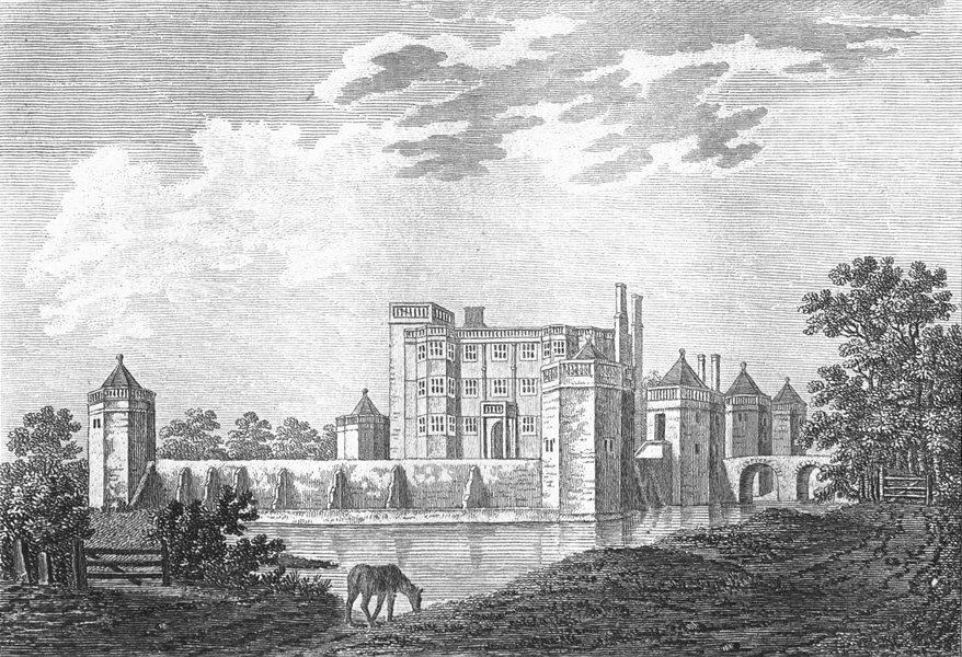 Associate Product STAFFS. Caverswall Castle. Grose. 18C 1795 old antique vintage print picture