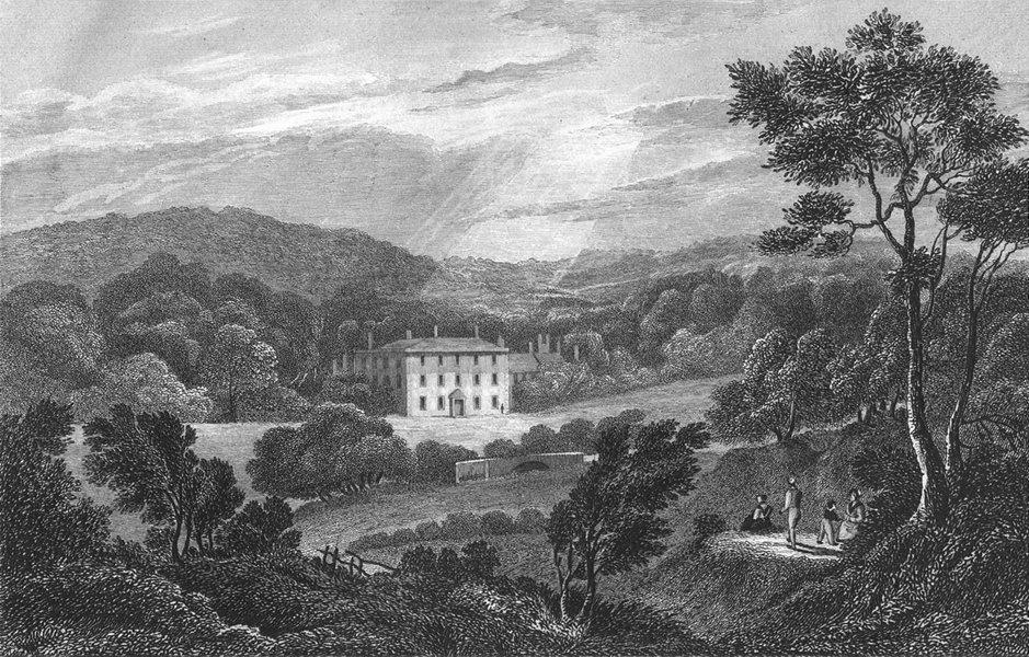 Associate Product STAFFS. Bellamour House, Oldham. West 1830 antique vintage print picture