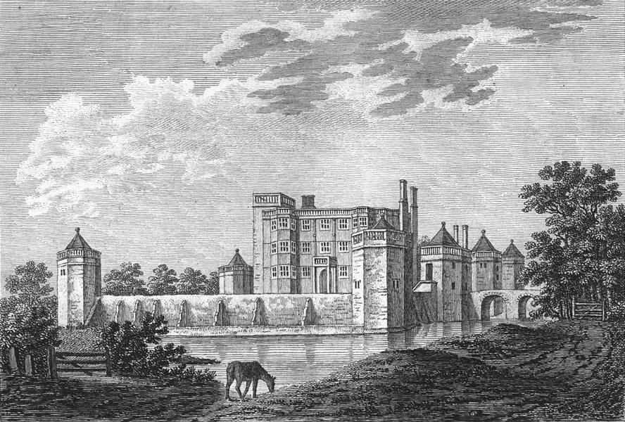 Associate Product STAFFS. Caverswall Castle. Grose 1783 old antique vintage print picture