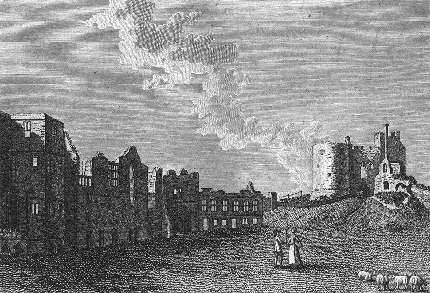 Associate Product STAFFS. Dudley Castle, Staffordshire. Grose 1783 old antique print picture